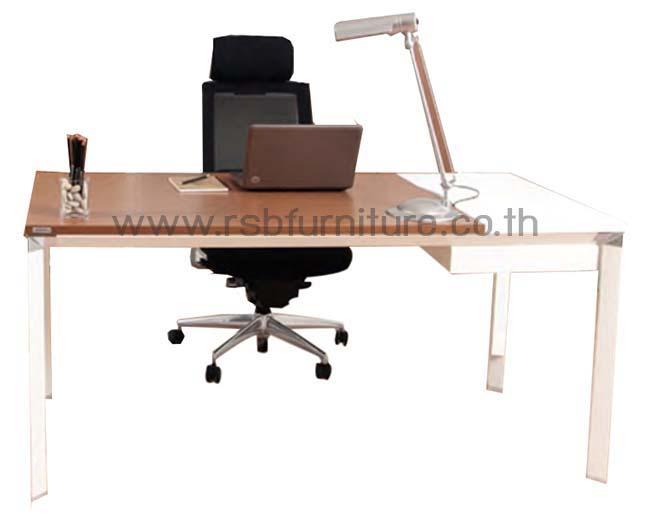 โต๊ะสำนักงานขาเหล็ก160 cm ทูโทน รหัส 2016