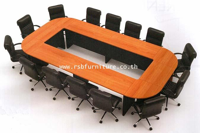 โต๊ะประชุมตัวต่อ เมลามีนเกรด A ทั้งตัว 14 ที่นั่ง ขนาด 400 X 200 CM รหัส 2030