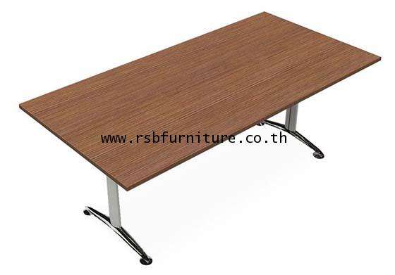 โต๊ะประชุม 200 x 100 cm 4 - 6 ที่นั่ง ขาเหล็กเงา รหัส 2146