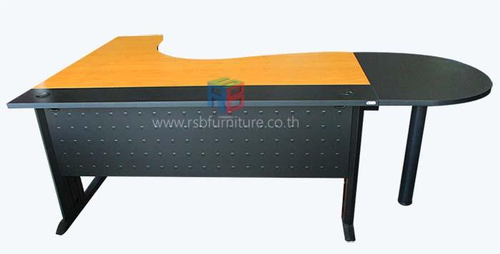 โต๊ะทำงานเข้ามุมผู้บริหาร ขาเหล็ก W160XD140 CM รหัส 2164