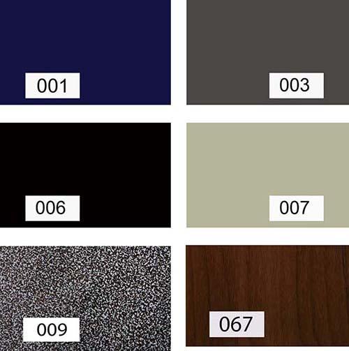 ตัวอย่างสี ผิว PVC สำหรับเฟอร์นิเจอร์ชุดออฟฟิส ทุกประเภท