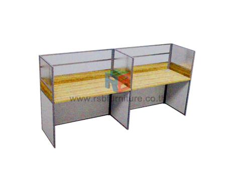 โต๊ะทำงานกลุ่ม 2 ที่นั่ง 306 x 122 cm เมลามีนสีพิเศษ รหัส 2334