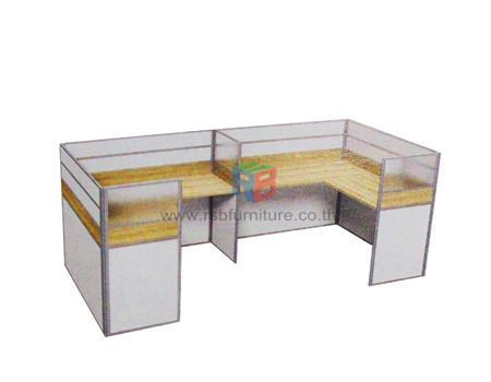 โต๊ะทำงานกลุ่ม 2 ที่นั่ง 306 x 154 cm รหัส 2332