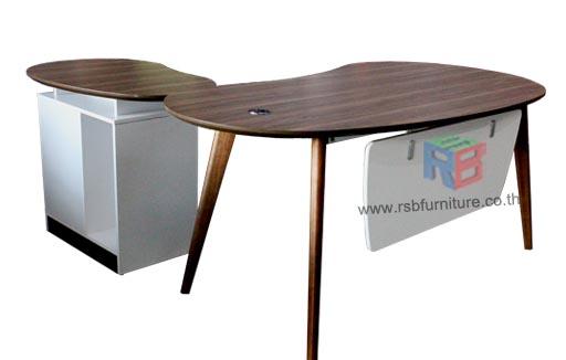 โต๊ะทำงานผู้บริหาร Topทรงหยดน้ำ W180xD80cm  งานดีไซน์ รหัส 2401
