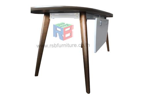 โต๊ะทำงานผู้บริหาร Topทรงหยดน้ำ W180xD80cm  งานดีไซน์ รหัส 2401 2