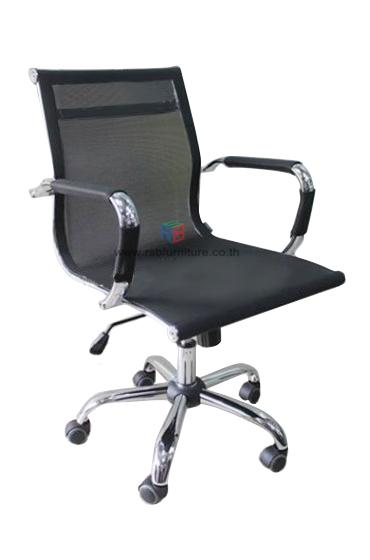 เก้าอี้สำนักงาน MESH SLIM ตาข่ายเหนียวทน ขาเหล็ก รหัส 1102 ราคาโปรโมชั่น