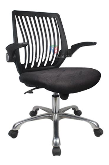 เก้าอี้สำนักงาน เก้าอี้ทำงาน สามารถยกแขนเก็บได้ รุ่น 1038