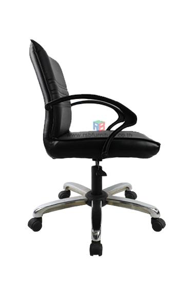 เก้าอี้สำนักงาน พนักพิงหนัง เสริมขาเหล็กตันรุ่นพิเศษ เกรด A  *รุ่นประหยัด* รหัส 2208 1
