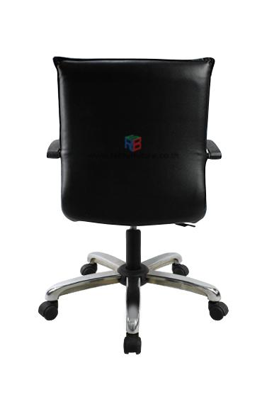 เก้าอี้สำนักงาน พนักพิงหนัง เสริมขาเหล็กตันรุ่นพิเศษ เกรด A  *รุ่นประหยัด* รหัส 2208 2