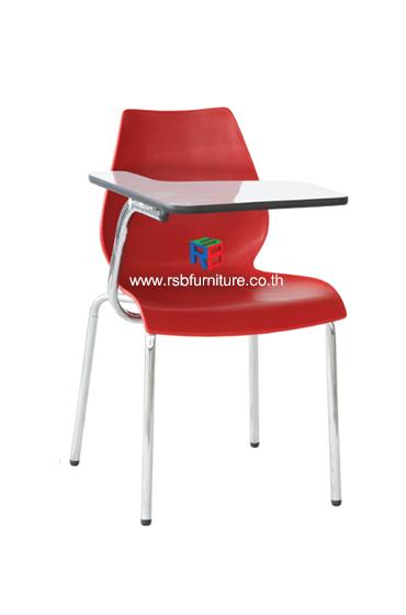 เก้าอี้เลคเชอร์ โมโนเชลพีพีขาชุบเงา เหล็กสเปคหนา รหัส 579