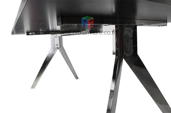 โต๊ะประชุม ขาอลูมิเนียม งาน DESIGN ขนาด W180/220/240 CM รหัส 2517 5