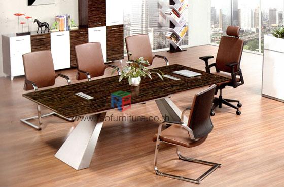 โต๊ะประชุม 6-8ที่นั่ง ขาอลูมิเนียม งานDESIGN หน้าTOP ลามิเนตเงา W240XD110XH78CM ราคาพิเศษ รหัส 2519