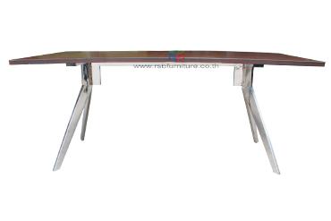 โต๊ะประชุม ขาอลูมิเนียม งาน DESIGN ขนาด W180/220/240 CM รหัส 2517