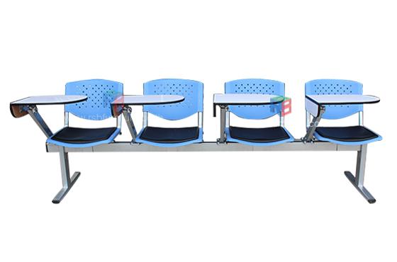 เก้าอี้แถวเลคเชอร์โพลี ที่เขียนแบบเหวี่ยงเก็บด้านข้าง 2-4 ที่นั่ง รหัส 1680
