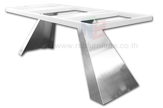 โต๊ะประชุม 6-8ที่นั่ง ขาอลูมิเนียม งานDESIGN หน้าTOP ลามิเนตเงา W240XD110XH78CM ราคาพิเศษ รหัส 2519 3