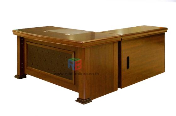 โต๊ะผู้บริหาร 160 cm - 180 cm พร้อมไซด์บอร์ดข้าง
