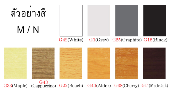 ตัวอย่างสีโต๊ะ M / N