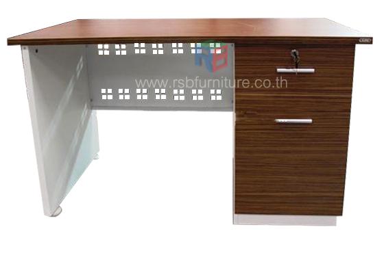 โต๊ะทำงาน โต๊ะสำนักงาน 120 cm 1 ลิ้นชัก 1 บานเปิด  ผิวเมลามีนสีพิเศษ