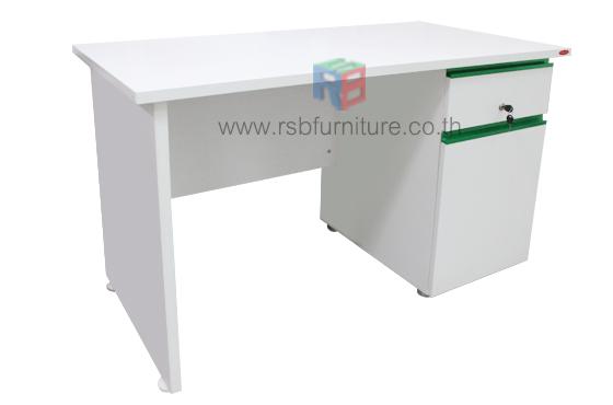 โต๊ะทำงาน ขาไม้ มือจับคาดอลูมิเนียม ขนาดกว้าง 120/155 CM รหัส 1483