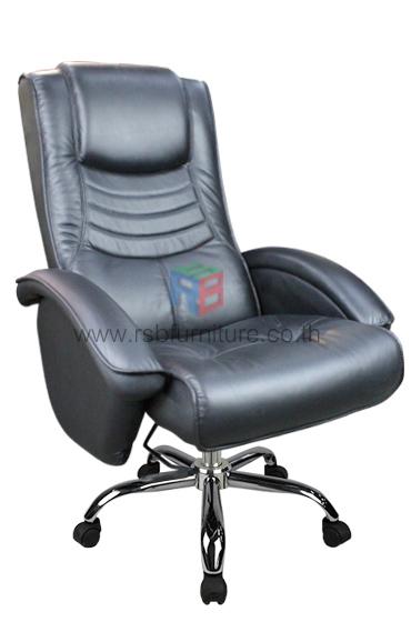 เก้าอี้ผู้บริหารหนังแท้หนานุ่ม ปรับเอนนอนได้ รุ่นขายดี รหัส 175