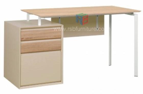 โต๊ะทำงาน ขนาด 144 cm ดีไซน์ตู้ลิ้นชักแยก
