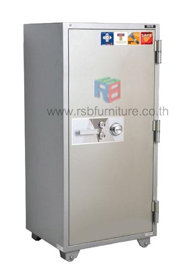 ตู้เซฟนิรภัย 250 KG ชนิดกันไฟ 2 กุญแจ 1 รหัสหมุน รุ่น TS 127 K2C รหัส 2777