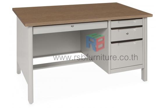 โต๊ะทำงานเหล็ก หน้า Topไม้ W120.7xD66.8xH75 cm TTD-40 TAIYO รหัส 2805