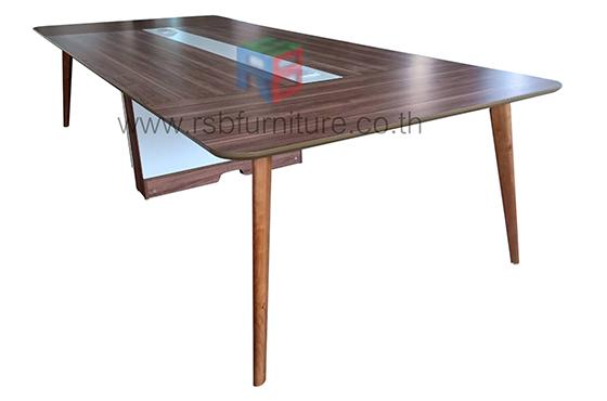 โต๊ะประชุมขาไม้+กล่องไฟ งานดีไซน์ รุ่นขายดี รหัส 2330
