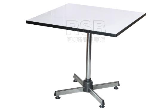 โต๊ะผิวโฟเมก้า ขาแชมเปญ 80 CM รหัส 1196