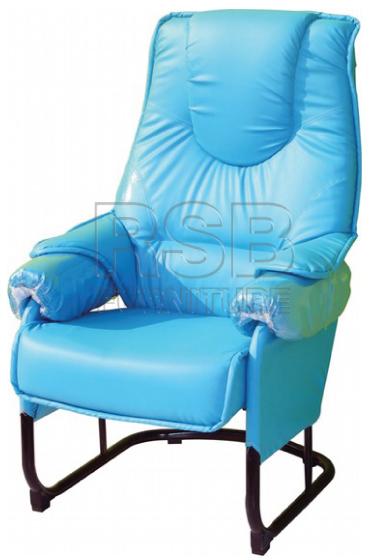 เก้าอี้ร้านนวด เก้าอี้พักผ่อน พนักพิงเวลาเอนรับกับหลัง รับน้ำหนัก 110 KG รหัส 2909