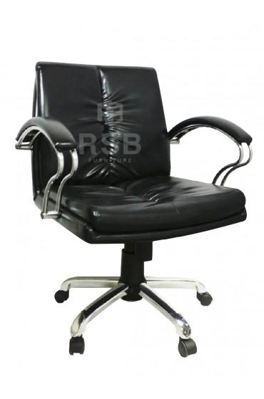 เก้าอี้สำนักงาน แขนเหล็กคู่ ที่นั่งหนา รับน้ำหนัก 130 KG รหัส 3048