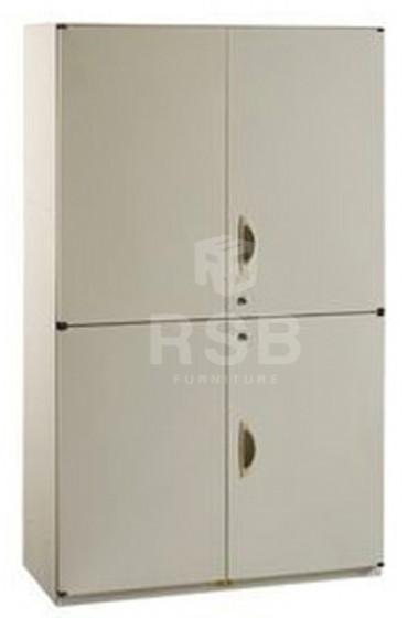 ตู้เอกสารเหล็ก ยี่ห้อ LUCKY บานเปิด บน - ล่าง พร้อมกุญแจล็อค ขนาด 90 x 40 สูง 155 cm รหัส 3275