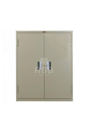 ตู้เอกสารเหล็ก ยี่ห้อ LUCKY แบบบานเปิด 2 บาน + ชั้นวางของ ขนาด 90 x 45 สูง 110 cm รหัส 3290
