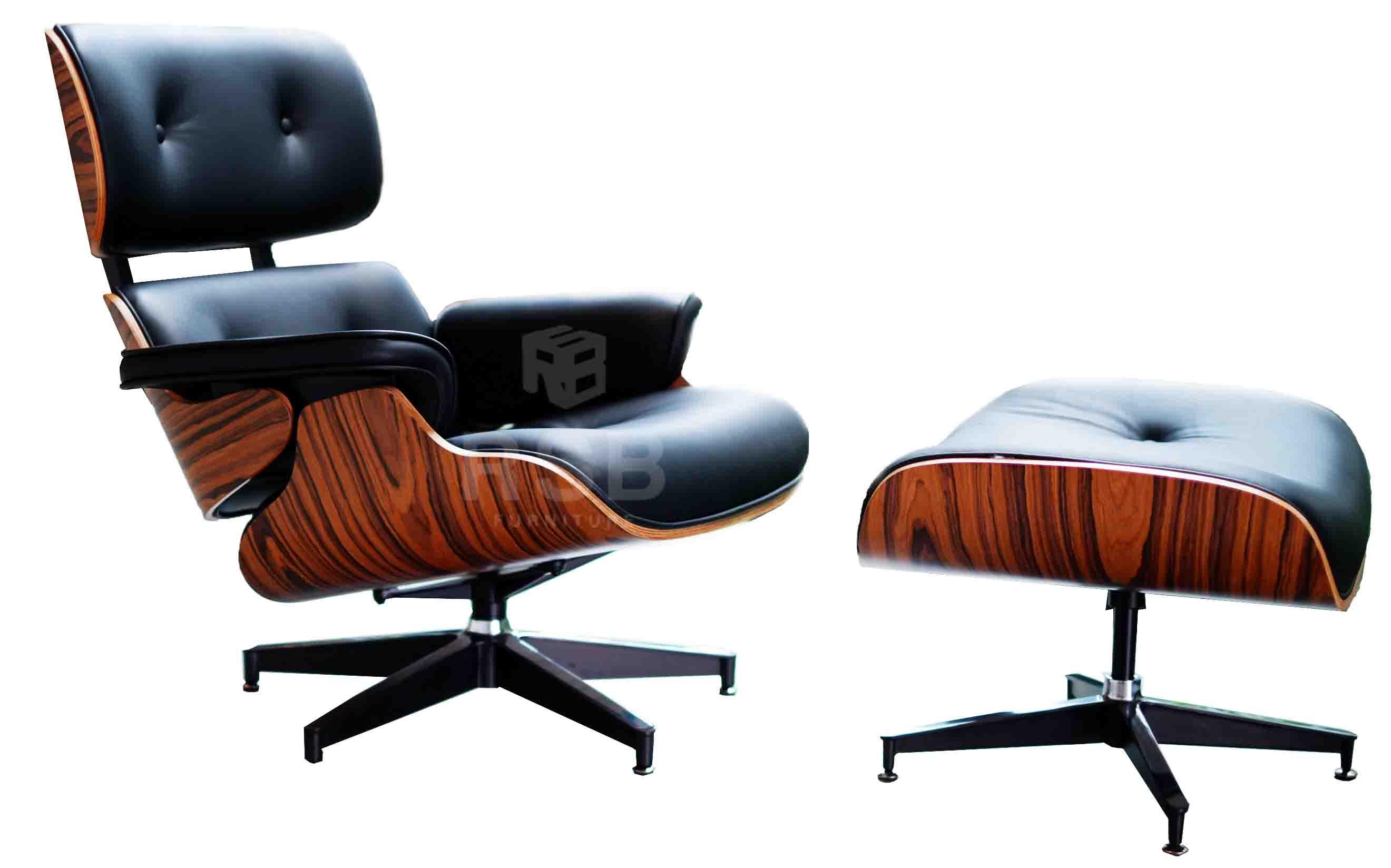 เก้าอี้ EAMES LOUNGE CHAIR AND OTTOMAN (REPLICA GRADE AAA) หนังITALIANแท้ ไม้วิเนียร์ SPEC ORIGINAL