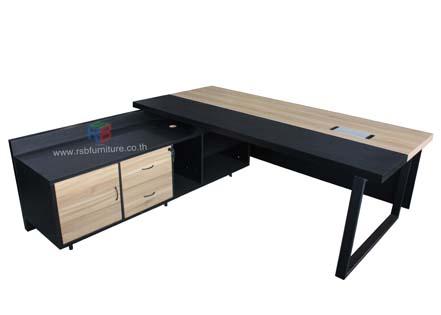 โต๊ะผู้บริหาร + ตู้ไซด์บอร์ดข้าง รหัส 2431
