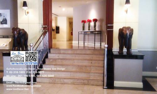 ราวบันไดสแตนเลส Standless Steel Handrail @ The Evergreen Service Apartment on Beside BTS Ratchatewee
