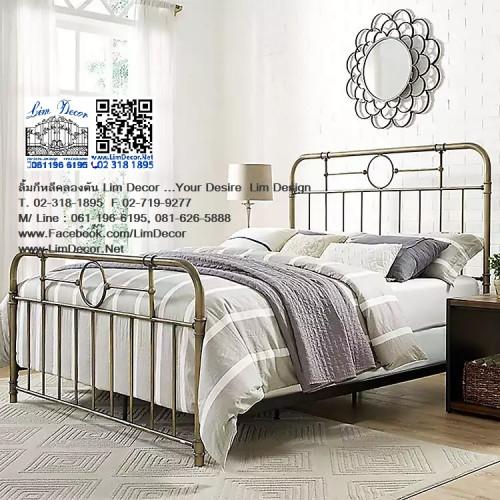 เตียงนอนเหล็กดัดอิตาลี่ร้อทไอร์อ้อนสั่งทำ สไตล์ยุโรป Antique Wrought Iron Steel Designed Bed 4
