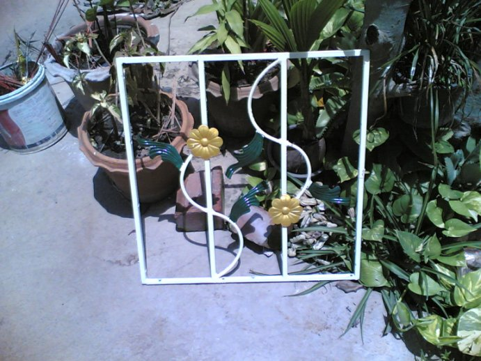 DIY หน้าต่างเหล็กดัดอิตาลี (Wrought Iron Steel  Curved Window ) 1