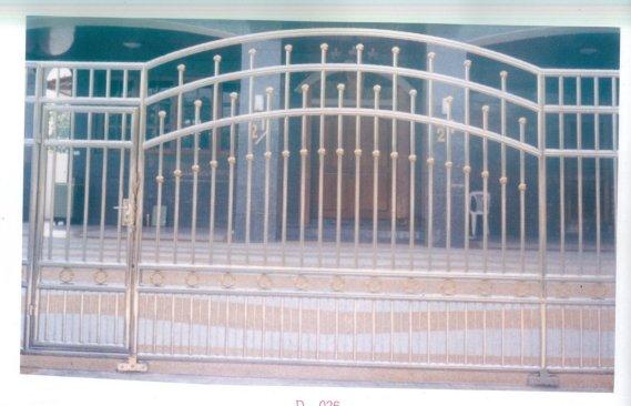 LD-A026 ประตูรั้วสแตนเลสพร้อมติดตั้งทั่วไทย Stainless Steel Gate Installation All Over Thailand