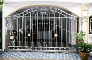 ประตูบานเลื่อนสแตนเลส ST 028 Sliding Stainless Steel Gate