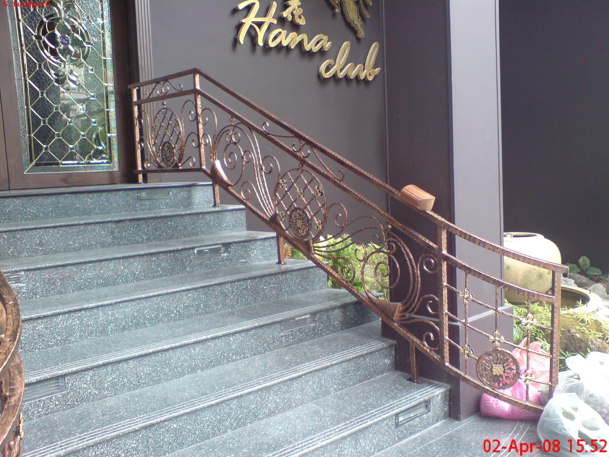 DIY ราวกันตกเหล็กดัดอิตาลี/ร้อทไอร์อ้อน Wrought Iron Steel Banister@Hanako Restaurant Thonglor17 Rd.