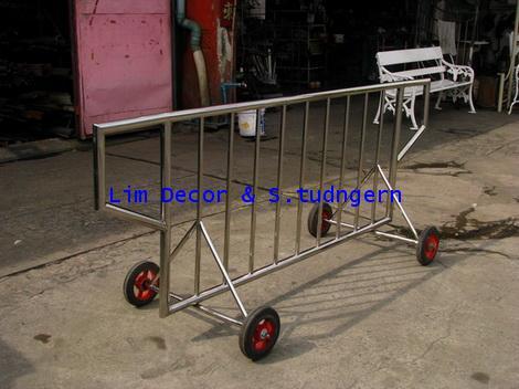 รถเข็นสเตนเลส Stainless Steel Wheelbarrow