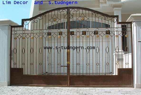 LD-A082 ประตูรั้วเหล็กดัดอิตาลีบานสวิง Swing Wrought Iron Steel Gate 1