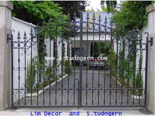LD-A082 ประตูรั้วเหล็กดัดอิตาลีบานสวิง Swing Wrought Iron Steel Gate 3