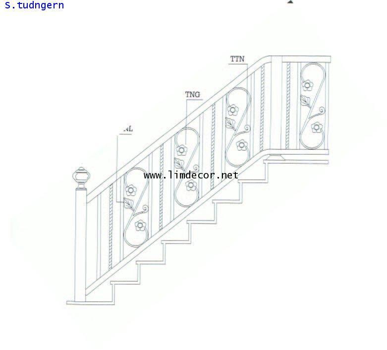 DIY ราวบันไดสแตนเลส Stainless Steel Railing  No.LD-B258 Best Seller Design!!! 1