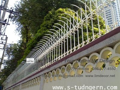 DIY รั้วศรแหลมเหล็กดัด Metal Steel Fence : LD-B134