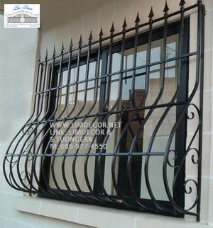 หน้าต่างเหล็กดัด เหล็กดัดอิตาลีอินเทรนด์ (In-trend Metal /Wrought Iron Steel  Curved Window) 1