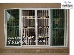 หน้าต่างเหล็กดัด เหล็กดัดอิตาลีอินเทรนด์ (In-trend Metal /Wrought Iron Steel  Curved Window) 2