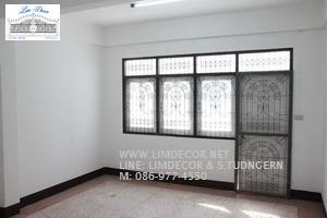 หน้าต่างเหล็กดัด เหล็กดัดอิตาลีอินเทรนด์ (In-trend Metal /Wrought Iron Steel  Curved Window) 3