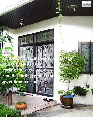 หน้าต่างเหล็กดัด เหล็กดัดอิตาลีอินเทรนด์ (In-trend Metal /Wrought Iron Steel  Curved Window) 4
